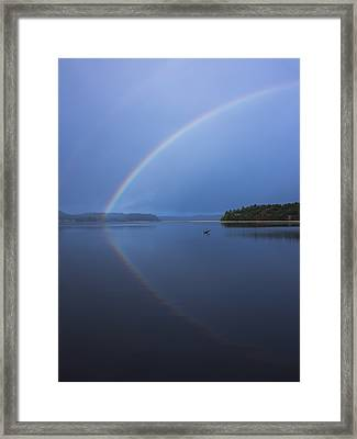 Magical Rainbow Reflection Framed Print by Loree Johnson