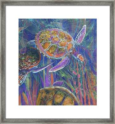 Magical Sea Turtles  Framed Print