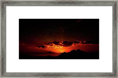 Magical Sunset In Africa 2 Framed Print