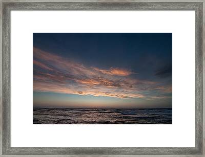 Framed Print featuring the photograph Magical Sunset by Laura Melis