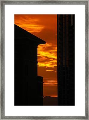 Magical Sunset Framed Print by Paula Strahan