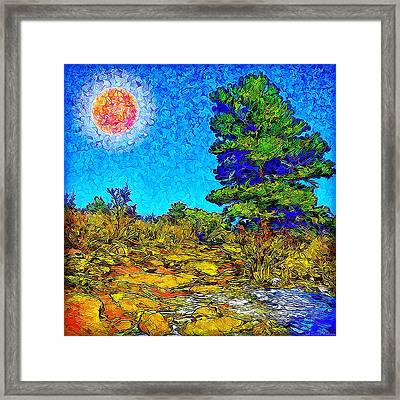 Framed Print featuring the digital art Sparkling Mountain Sunshine - Boulder County Colorado by Joel Bruce Wallach