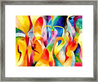 Magical Swans Framed Print by Peter Shor
