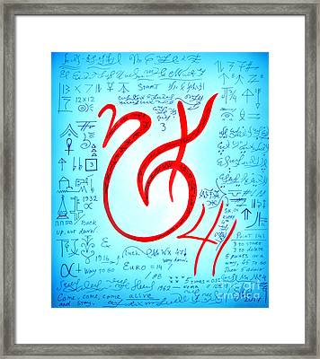 Magical Symbol - Pride And Victory Framed Print