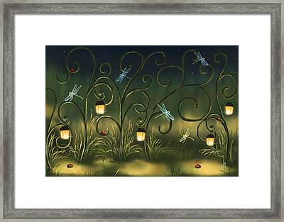 Magical Village Framed Print
