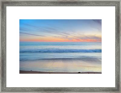 Magical Waves Tarifa Beach At Sunset Framed Print