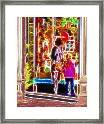 Magical Window - Christmas Window Display 3  Framed Print by Steve Ohlsen