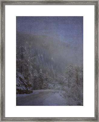 Framed Print featuring the photograph Magical Winter Day by Ellen Heaverlo