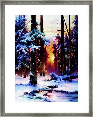 Magical Winter Night Framed Print