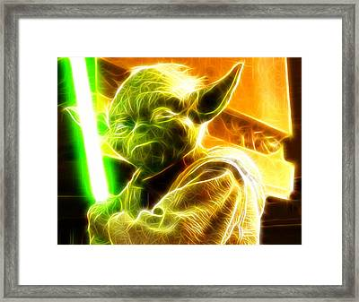 Magical Yoda Framed Print by Paul Van Scott