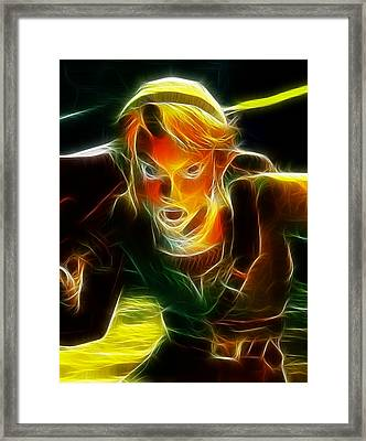 Magical Zelda Link Framed Print