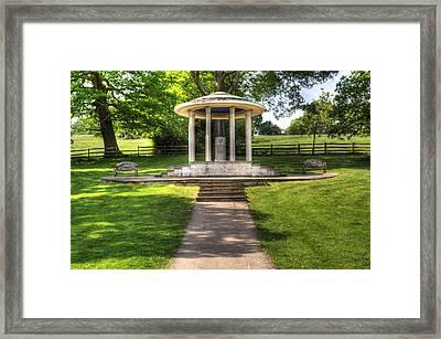 Magna Carta Memorial Framed Print
