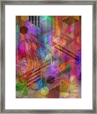 Magnetic Abstraction Framed Print by John Beck