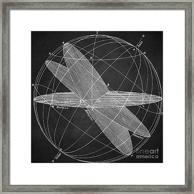 Magnetic Fields Chalkboard Framed Print by Edward Fielding