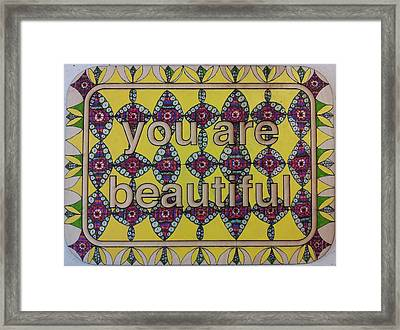 Magnetic Geometric Vibrations Inviting Renewal Framed Print by William Douglas