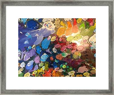 Magnetic Paint Palette Framed Print by Tanielle Childers