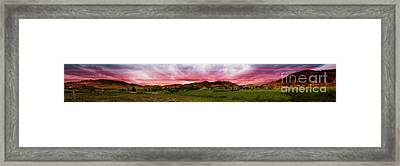 Magnificent Andes Valley Panorama Framed Print by Al Bourassa