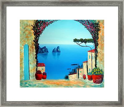 Magnificent Capri Framed Print by Larry Cirigliano
