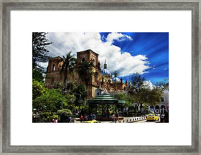 Framed Print featuring the photograph Magnificent Center Of Cuenca, Ecuador IIi by Al Bourassa