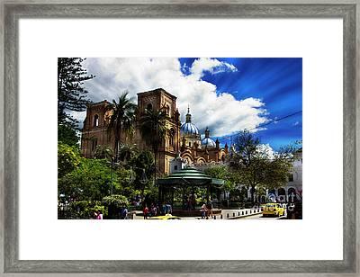 Magnificent Center Of Cuenca, Ecuador IIi Framed Print by Al Bourassa