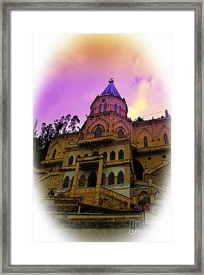 Framed Print featuring the photograph Magnificent Church Of Biblian II by Al Bourassa