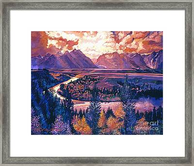 Magnificent Grand Tetons Framed Print by David Lloyd Glover