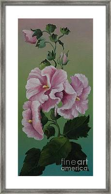 Magnificent Hollyhocks Framed Print by Louise Williams