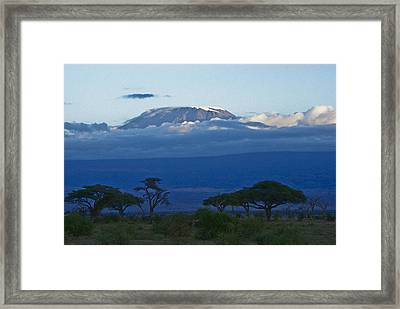 Magnificent Kilimanjaro Framed Print