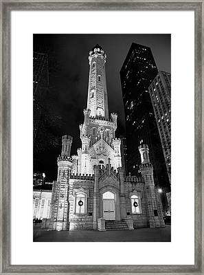 Magnificent Mile Old Water Tower - Chicago Framed Print