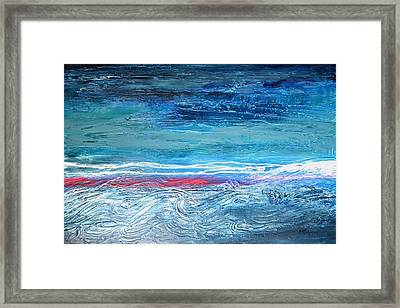Magnificent Morning Abstract Seascape Framed Print