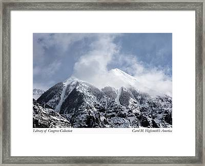 Framed Print featuring the photograph Magnificent Mountains In Telluride In Colorado by Carol M Highsmith