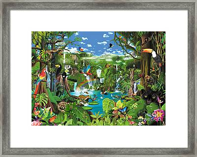 Magnificent Rainforest Framed Print by Gerald Newton