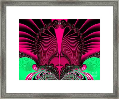 Magnificent Sunrise Reflections Fractal 119 Framed Print