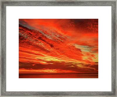 Magnificent Sunset Framed Print by Michael Durst