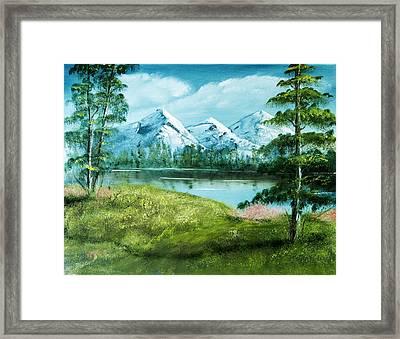Magnificent Vista - Mountain Landscape Framed Print by Barry Jones