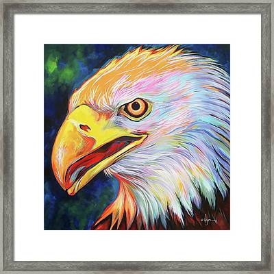 Framed Print featuring the painting Magnifico by Angela Treat Lyon