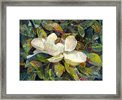 Magnolia Blossom Framed Print by Hailey E Herrera