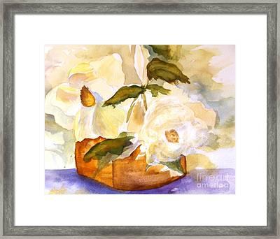 Magnolia Blossoms Framed Print by Sandi Stonebraker