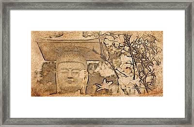 Magnolia Buddha Framed Print