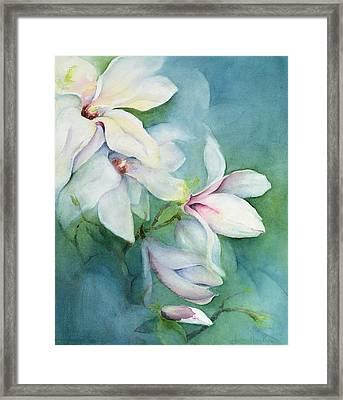 Magnolia Dedudata Framed Print by Karen Armitage