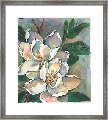 Magnolia Four Framed Print