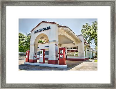 Magnolia Gas - Little Rock Framed Print by Stephen Stookey