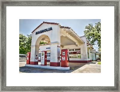 Magnolia Gas - Little Rock Framed Print