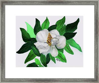 Framed Print featuring the painting Magnolia I by Joan Zepf