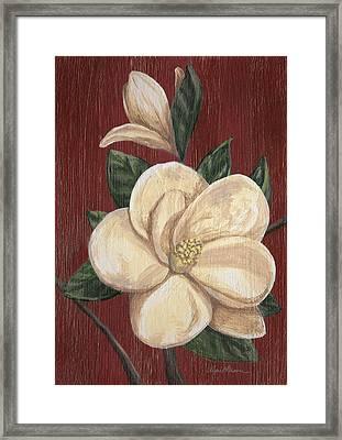 Magnolia II Framed Print by April Moen