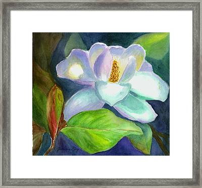 Framed Print featuring the painting Magnolia by Jeanne Kay Juhos