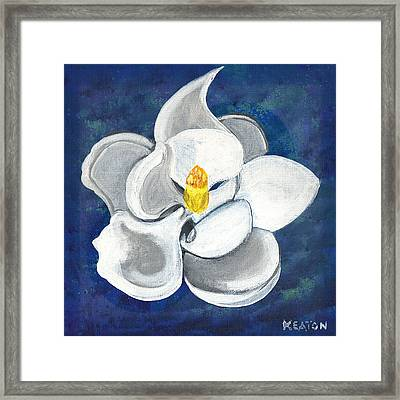 Framed Print featuring the painting Magnolia by John Keaton