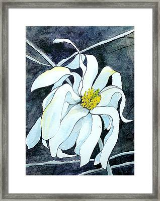 Framed Print featuring the painting Magnolia by Lynn Babineau