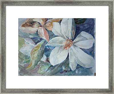 Magnolia Magic Framed Print by Dorothy Herron
