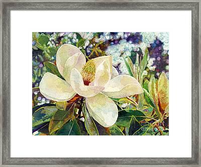 Magnolia Melody Framed Print by Hailey E Herrera